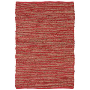 Red Jeans and Hemp Rectangular: 5 Ft. x 8 Ft. Rug