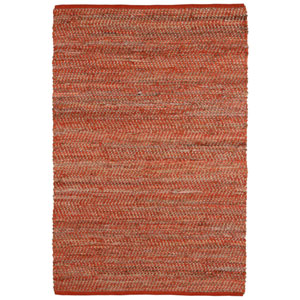 Orange Jeans and Hemp Rectangular: 5 Ft. x 8 Ft. Rug