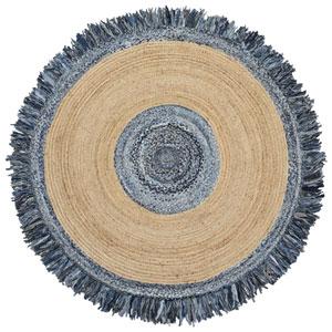 Blue Jeans Denim / Hemp Round Racktrack Round: 6 Ft. Rug