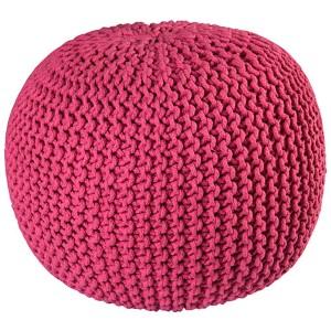 Pink Cotton Rope Pouf Ottoman