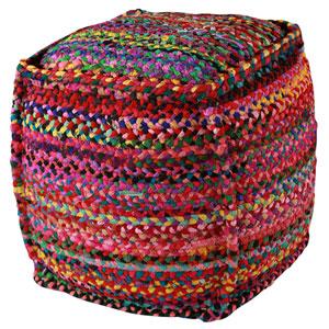 Multicolor 22-Inch Brilliant Ribbon Pouf