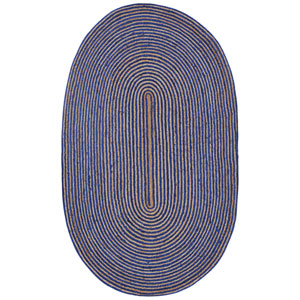 Earth First Blue Racetrack Oval: 4 Ft x 6 Ft Rug