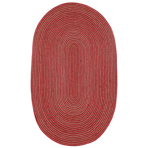 Earth First Red Racetrack Oval: 4 Ft x 6 Ft Rug