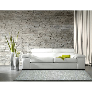 Matador White Leather Chindi Rectangular: 4 Ft. x 6 Ft. Rug