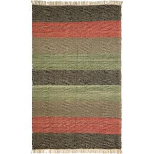 Matador Leather Chindi Striped Rectangular: 8 Ft. x 10 Ft. Rug