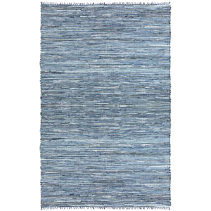 Matador Blue Dhurry Rectangular: 1 Ft 9 In x 2 Ft 10 In Rug