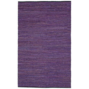 Matador Purple Leather Chindi Rectangular: 5 Ft. x 8 Ft. Rug