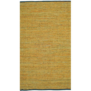 Matador Gold Leather Chindi Rectangular: 8 Ft. x 10 Ft. Rug
