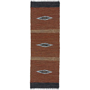 Matador Brown Diamonds Runner: 2 Ft 6 In x 8 Ft Rug