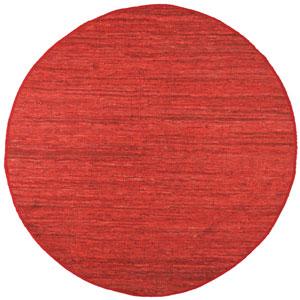 Red Matador Round: 3 Ft Rug