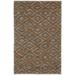 Matador Gold and White Diamonds Rectangular: 4 Ft x 6 Ft Rug