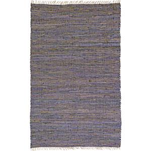 Matador Purple Leather and Hemp Rectangular: 5 Ft. x 10 Ft. Rug