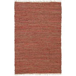 Matador Copper Leather and Hemp Rectangular: 8 Ft. x 10 Ft. Rug