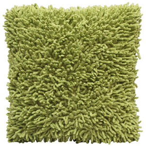 Shagadelic Green 18-Inch Chenille Twist Double Sided Pillow
