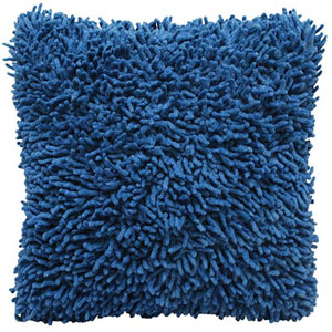 Shagadelic Blue 18-Inch Chenille Twist Double Sided Pillow