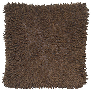 Shagadelic Brown 18-Inch Chenille Twist Double Sided Pillow