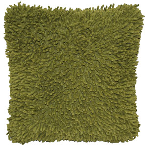 Shagadelic Moss 18-Inch Chenille Twist Double Sided Pillow