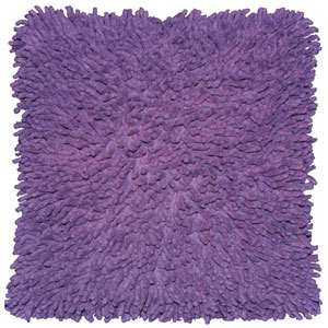 Shagadelic Purple 18-Inch Chenille Twist Double Sided Pillow