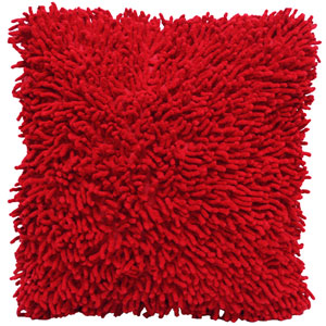 Shagadelic Red 18-Inch Chenille Twist Double Sided Pillow