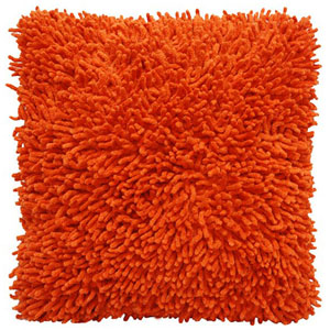 Shagadelic Orange 18-Inch Chenille Twist Double Sided Pillow