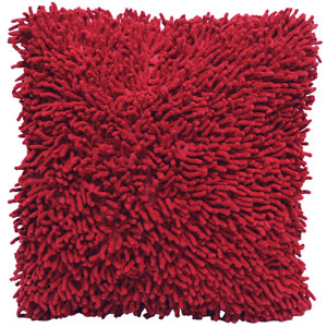 Shagadelic Chenille Twist Burgundy 27-Inch Double Sided Pillow