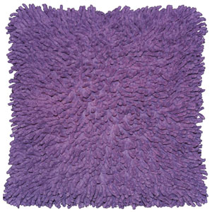 Shagadelic Chenille Twist Purple 27-Inch Double Sided Pillow