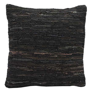 Matador Brown 18-Inch Leather Chindi Pillow