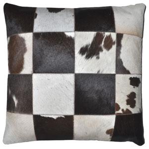Matador 18 Inch Dark Brown Leather Hide Hair On Pillow