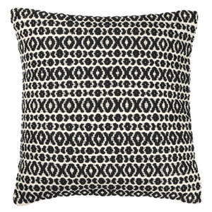 Structure Hugs and Kisses Black 18-Inch Pillow