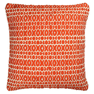 Structure Hugs and Kisses Orange 18-Inch Pillow