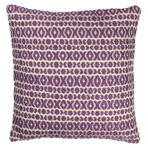 Structure Hugs and Kisses Purple 18-Inch Pillow