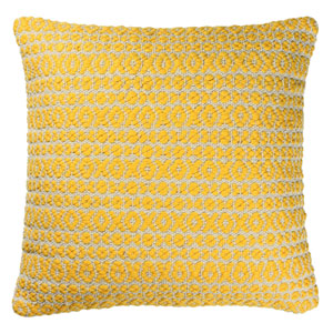 Structure Hugs and Kisses Yellow 27-Inch Pillow