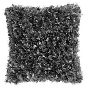 Gray Shimmer Shag 24-Inch Pillow