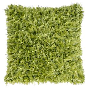 Green Shimmer Shag 24-Inch Pillow