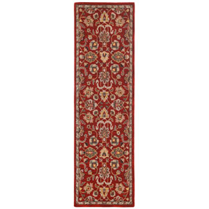 Traditions Red Salvador Runner: 2 Ft 6 In x 12 Ft Rug