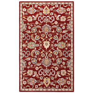Traditions Red Salvador Rectangular: 4 Ft x 6 Ft Rug