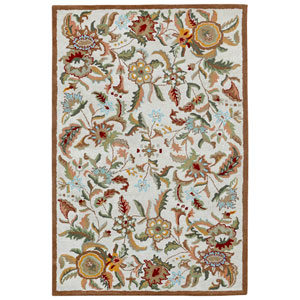 Traditions Brown Paradise Rectangular: 4 Ft x 6 Ft Rug