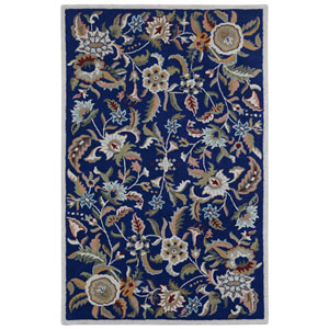 Traditions Blue Paradise Rectangular: 4 Ft x 6 Ft Rug