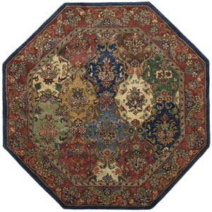 Baktarri Navy Octagon: 6 Ft. x 6 Ft.  Rug