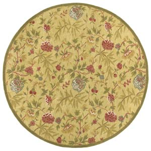 Transitional Gold Round: 6 Ft. x 6 Ft.  Rug