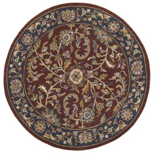 Kashan Red Round: 8 Ft. x 8 Ft.  Rug