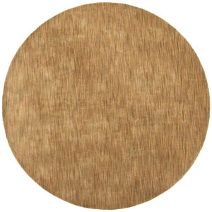 Fusion Chocolate Round: 8 Ft. x 8 Ft. Rug