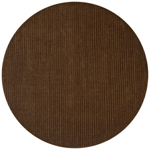 Pulse Brown Round: 6 Ft. x 6 Ft. Rug