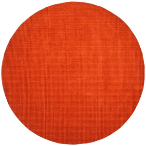 Pulse Orange Round: 6 Ft. x 6 Ft. Rug