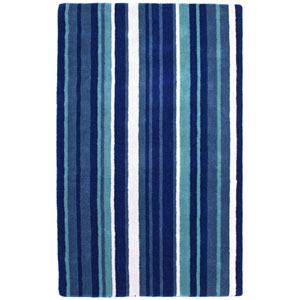 Cosmo Striped Blue Rectangular: 5 ft. x 8 ft. Rug