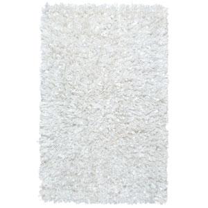 White Shimmer Shag 21-Inch x 34-Inch Rug