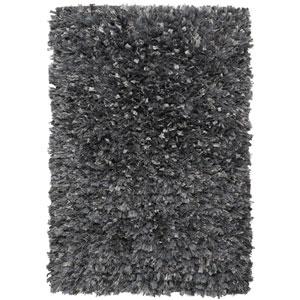 Gray Blue Shimmer Shag 30-Inch x 50-Inch Rug