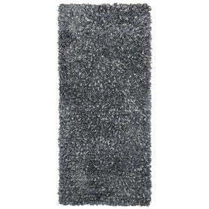 Gray Blue Shimmer Shag 2 Ft. x 5 Ft. Runner