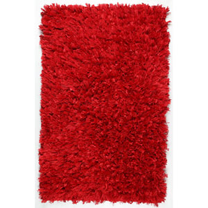 Red Shimmer Shag 30-Inch x 50-Inch Rug