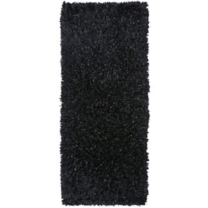 Black Blue Shimmer Shag 2 Ft. x 5 Ft. Runner
